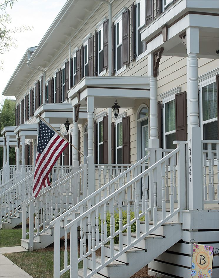 Porches with Flag