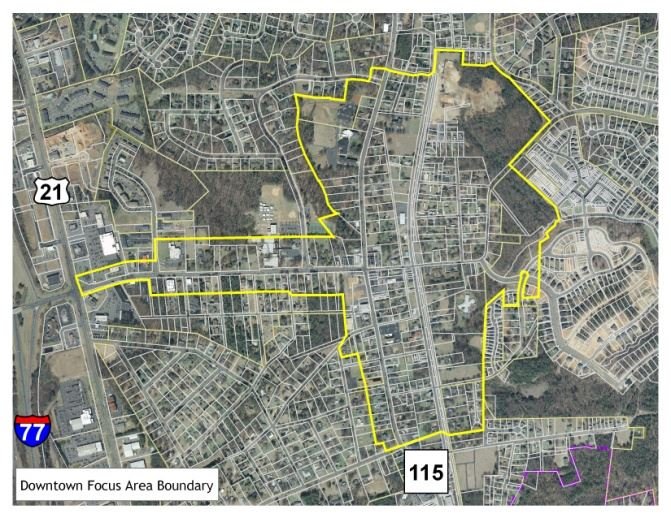 Downtown Focus Area Boundary Map
