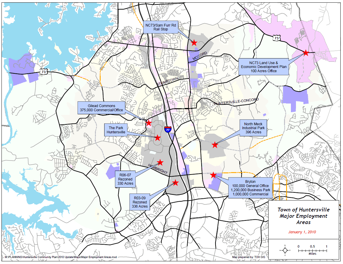 Map ED- 2 - Major Employment Areas
