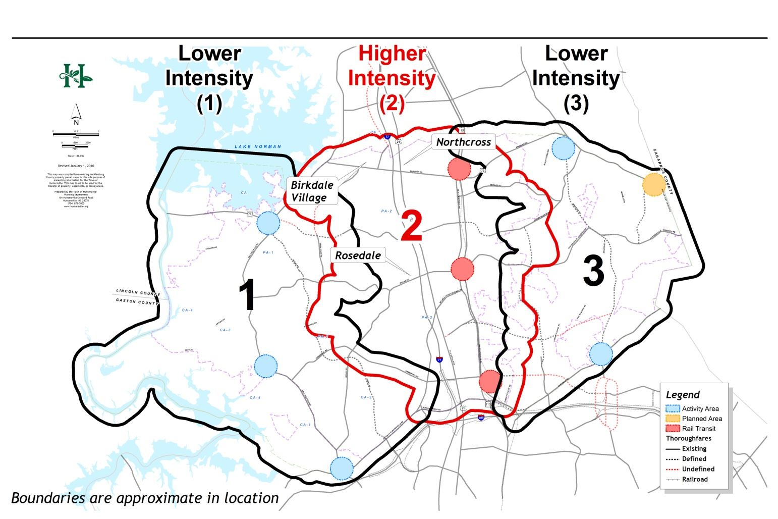 Map H-5 - Huntersville Development Pattern