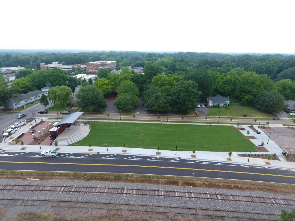 Aerial of Veterans Park