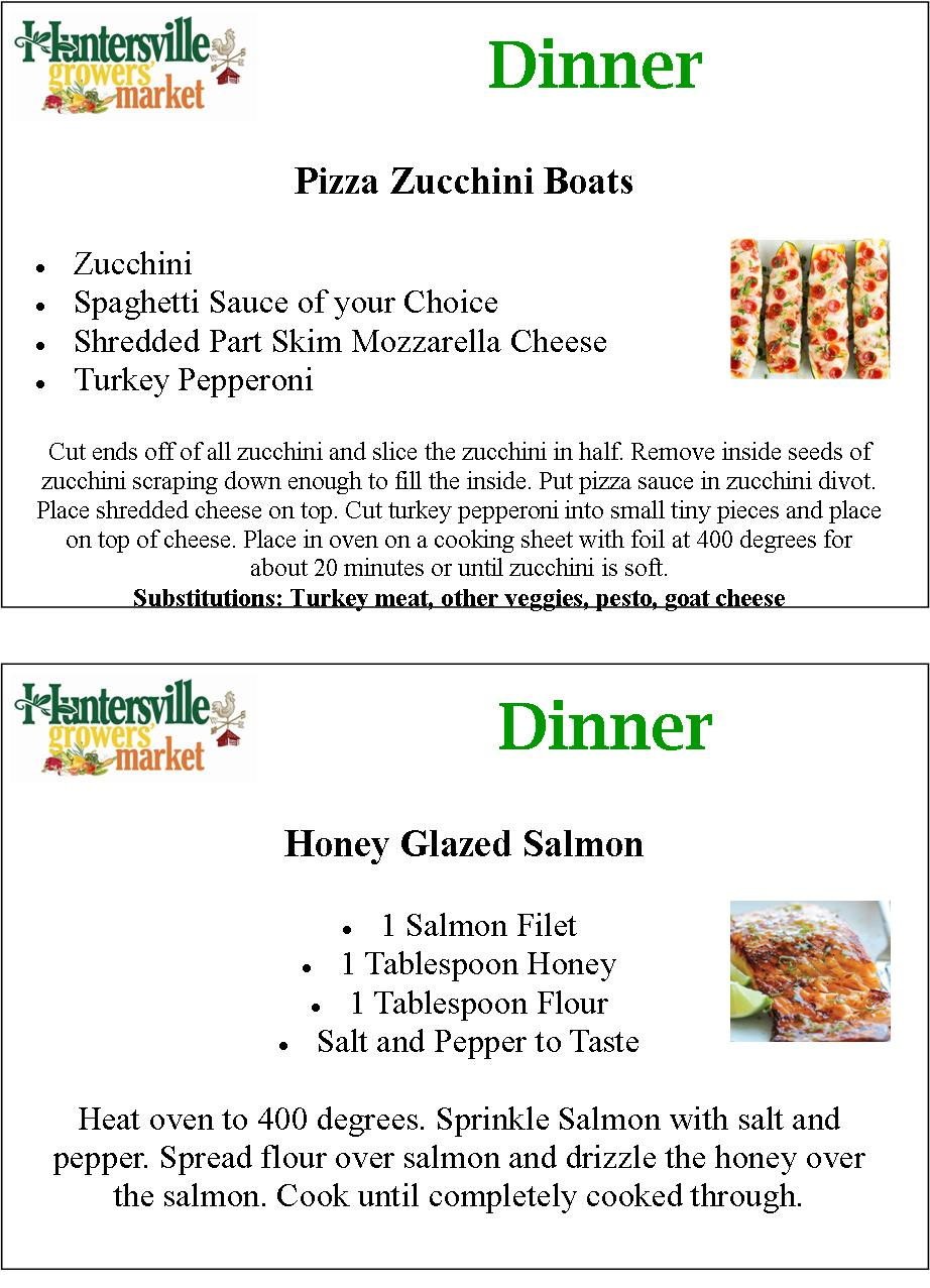 Detailed pizza zuchinni honey glazed salmon recipes
