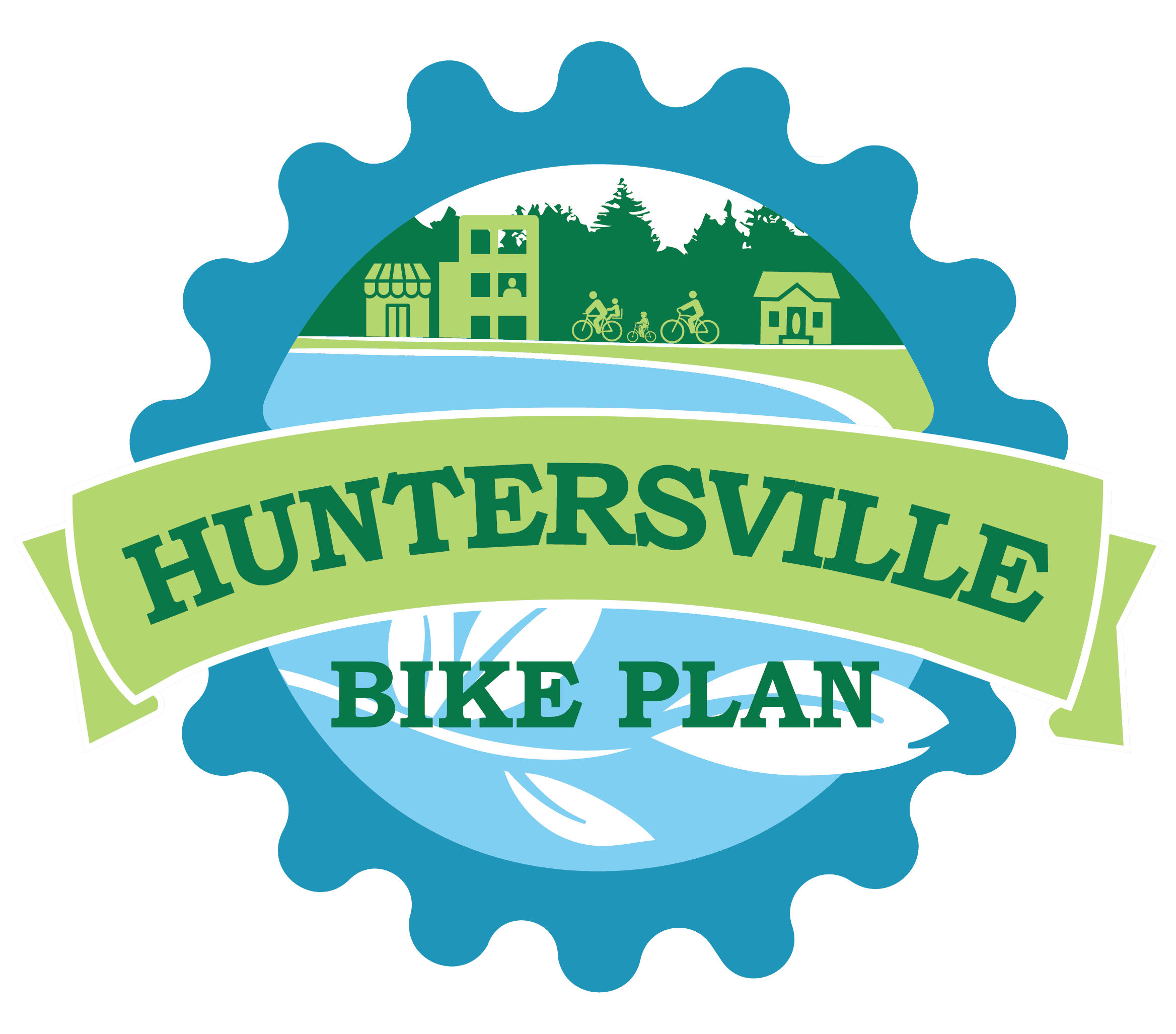 Huntersville Bike Plan Logo